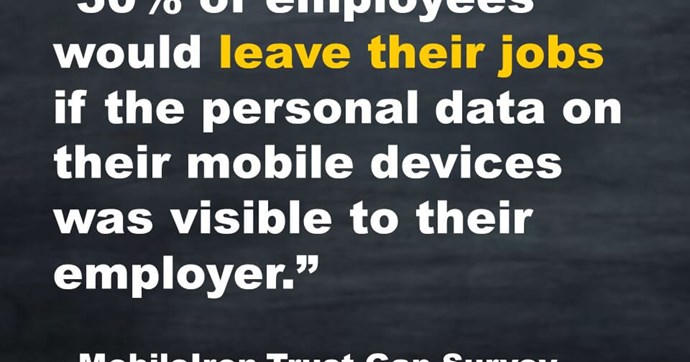 Attract and Retain Young Talent by Protecting Their Privacy on Mobile Devices