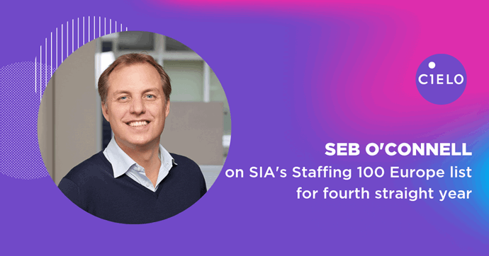 "Cielo's Seb O'Connell Named to SIA's ""Staffing 100 Europe 2019"" List"