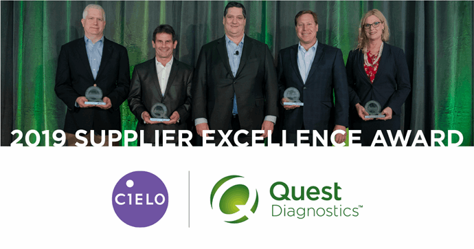 Cielo Wins Supplier Excellence Award from Quest Diagnostics