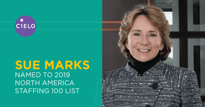 Cielo Founder and CEO Sue Marks Named to SIA's 2019 Staffing 100 List