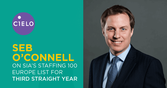 Cielo's Seb O'Connell Named to SIA's 2018 Europe Staffing 100 list