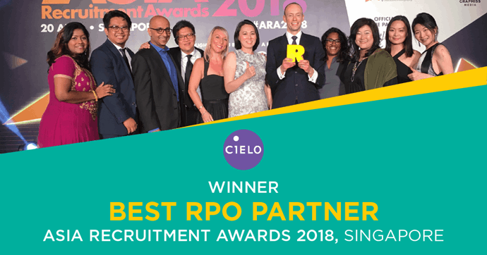 Cielo's APAC Commitment Results in Best RPO Partner Win at Asia Recruitment Awards