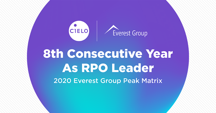 Cielo Named a Recruitment Process Outsourcing Leader in Everest Group's 2020 RPO PEAK Matrix Assessment for Eighth Consecutive Year