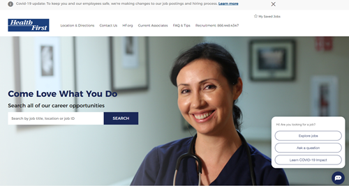 Health First careers website