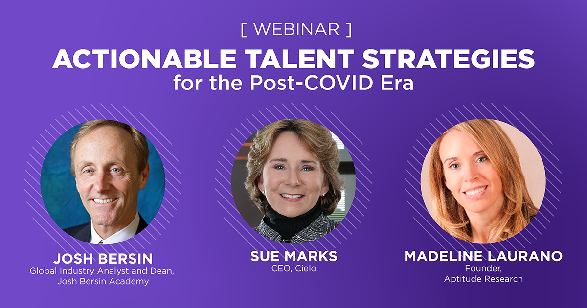 Actionable Talent Strategies for the Post-COVID Era Webinar