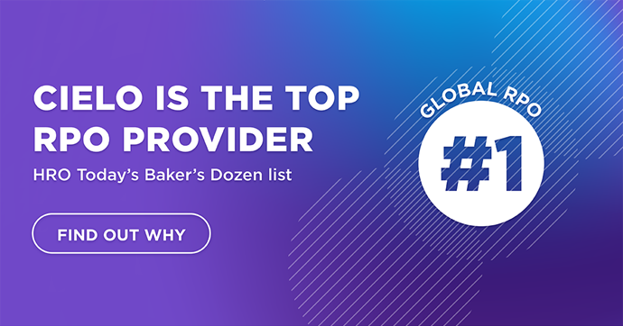 Cielo Named #1 Global RPO Provider in the 2020 HRO Today Baker's Dozen